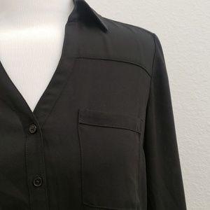 Express Tops - Express Portofino Shirt in Black Career Top G16